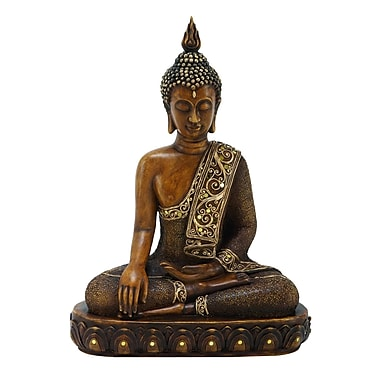Benzara BUDDHA Decor, 15x12x6 Inches, Brown