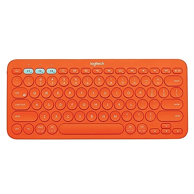 Logitech 920-008081 K380 Multi-Device Bluetooth Keyboard, Orange