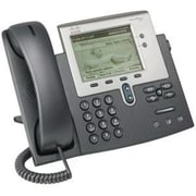 Cisco® Unified 7942G 2-Lines Refurbished IP Phone, Dark Gray