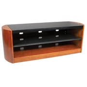 """Kanto Mirage Stand with Tempered Glass Shelves for 70"""" TV, Chestnut (MIR68CH)"""