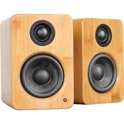 Kanto YU2 2-Way Powered Desktop Speaker, Bamboo