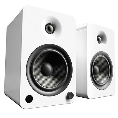 Kanto YU6 2Way Powered Speakers with Bluetooth and Phono Preamp, Gloss White
