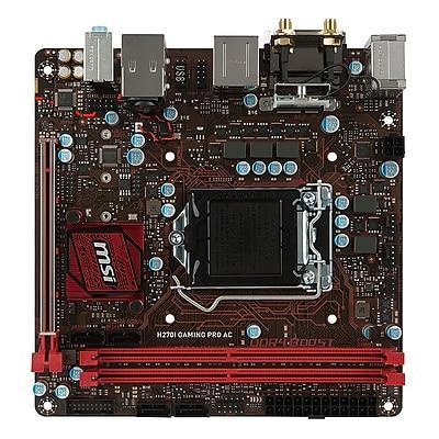 msi® Socket LGA-1151 Mini ITX Desktop Motherboard, 32GB DDR4 (B250I GAMING PRO AC)
