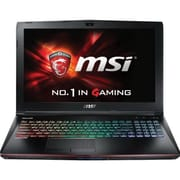"msi® GE62 Apache-264 15.6"" Notebook, LCD, Core i7-7700HQ, 1TB HDD, 16GB RAM, WIN 10 Home, Black"