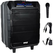 "Pyle® 12"" Active Portable Bluetooth Stereo Loudspeaker System with Karaoke Microphone, Black (PWM1235BT)"
