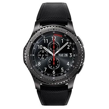 Samsung Gear S3 Frontier Silicone/Stainless Steel Smart Watch, Dark Gray (SSM-R760NDAAXAR)