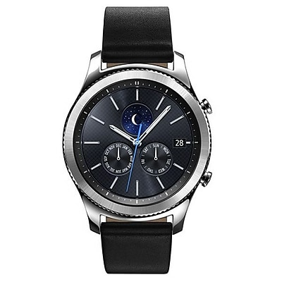 Samsung Gear S3 Classic Leather Smartwatch, Silver (SM-R770NZSAXAR)