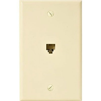 STEREN 300-204IV Ivory Flush Mount Faceplate for Modular Telephone IM1T07824