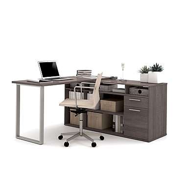Bestar Solay L Shaped Desk Bark Grey 29420 47