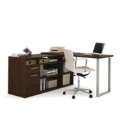 Bestar Solay L-Shaped Desk with Lateral File & Bookcase