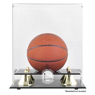 Mounted Memories NBA Golden Classic Logo Mini Basketball Display Case; Golden State Warriors