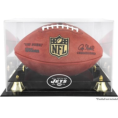 Mounted Memories NFL Classic Football Logo Display Case; New York Jets