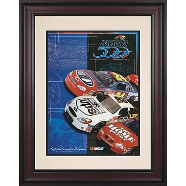 Mounted Memories NASCAR Daytona 500 Program Framed Vintage Advertisement; 43rd Annual - 2001