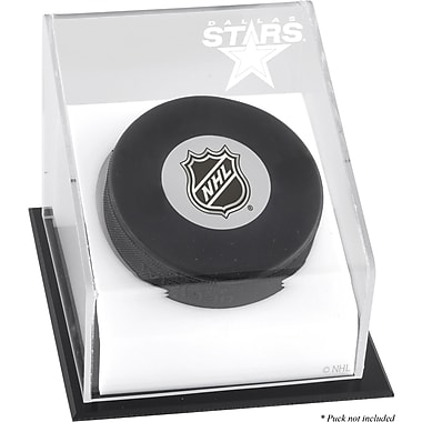 Mounted Memories Hockey Puck Logo Display Case; Dallas Stars