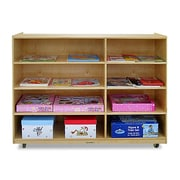 A+ Child Supply 8 Compartment Shelving Unit w/ Casters