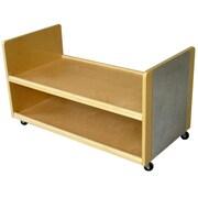 A+ Child Supply Treasure Basket Shelving Unit w/ Wheels
