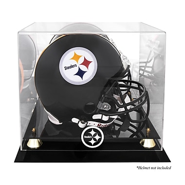 Mounted Memories NFL Classic Helmet Logo Display Case; Pittsburgh Steelers