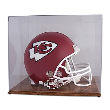 Mounted Memories NFL Helmet Logo Display Case; Kansas City Chiefs