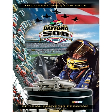 Mounted Memories NASCAR Daytona 500 Program Vintage Advertisement on Canvas; 46th Annual - 2004