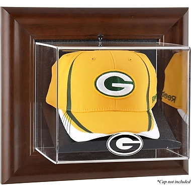 Mounted Memories NFL Wall Mounted Logo Cap Case; Green Bay Packers