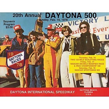 Mounted Memories NASCAR Daytona 500 Program Vintage Advertisement on Canvas; 20th Annual - 1978