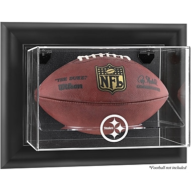 Mounted Memories NFL Wall Mounted Football Logo Display Case; Pittsburgh Steelers