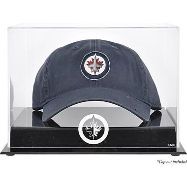Mounted Memories Acrylic Cap Logo Display Case; Winnipeg Jets