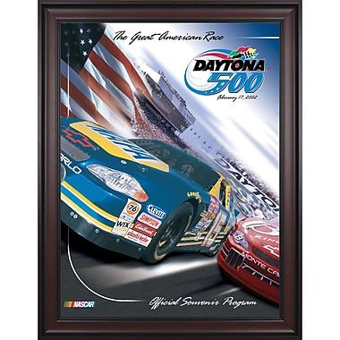 Mounted Memories NASCAR Daytona 500 Program Framed Vintage Advertisement; 44th Annual - 2002