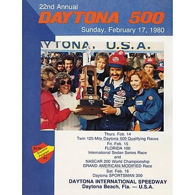 Mounted Memories NASCAR Daytona 500 Program Vintage Advertisement on Canvas; 22nd Annual - 1980