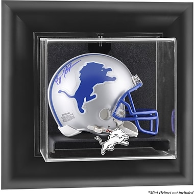Mounted Memories NFL Wall Mounted Mini Helmet Logo Display Case; Detroit Lions