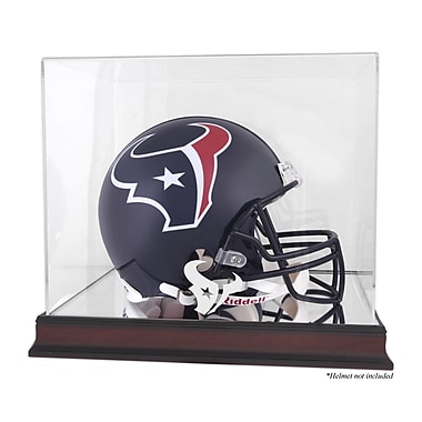 Mounted Memories NFL Helmet Logo Display Case; Houston Texans