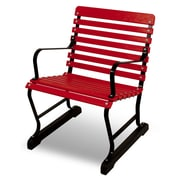 Ivy Terrace Vintage 22'' Arm Chair; Black/Sunset Red