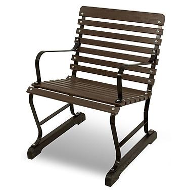 Ivy Terrace Vintage 22'' Arm Chair; Black/Mahogany