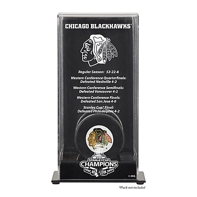Mounted Memories 2010 Stanley Cup Championship Logo Puck Display Case; Chicago Blackhawks WYF078275713963