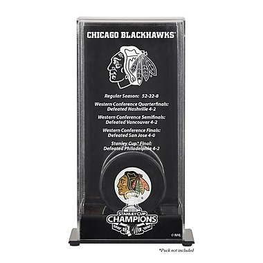 Mounted Memories 2010 Stanley Cup Championship Logo Puck Display Case; Chicago Blackhawks