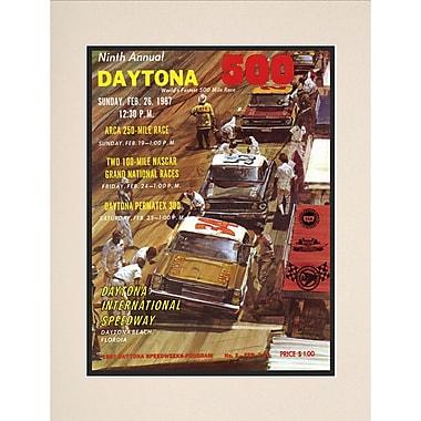 Mounted Memories NASCAR Daytona 500 Program Vintage Advertisement; 9th Annual - 1967