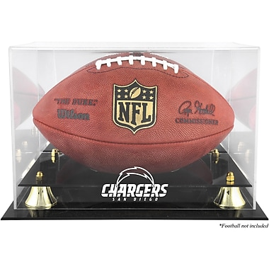 Mounted Memories NFL Classic Football Logo Display Case; San Diego Chargers