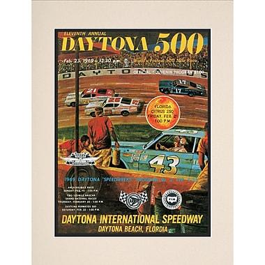 Mounted Memories NASCAR Daytona 500 Program Vintage Advertisement; 11th Annual - 1969