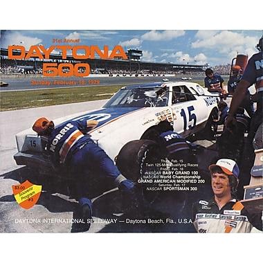 Mounted Memories NASCAR Daytona 500 Program Vintage Advertisement on Canvas; 21st Annual - 1979