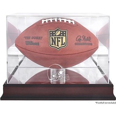 Mounted Memories NFL Football Logo Display Case; Cleveland Browns