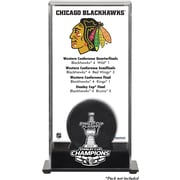 Mounted Memories NHL 2013 Stanley Cup Champions Logo Standard Puck Display Case; Chicago Blackhawks