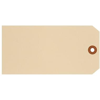 Merangue – Étiquettes d'expédition, taille 8, 6 1/4 x 3 1/8 po, manille, 1000/paquet