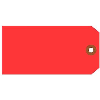 Merangue – Étiquettes d'expédition, taille 6, 5 1/4 x 2 5/8 po, rouge, 1000/paquet