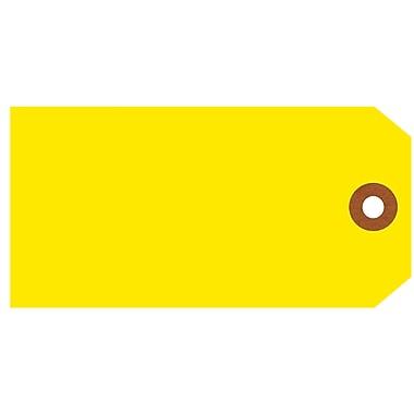 Merangue – Étiquettes d'expédition, taille 5, 4 3/4 x 2 3/8 po, jaune, 1000/paquet