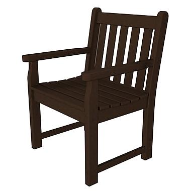 POLYWOOD Traditional Garden Arm Chair; Mahogany