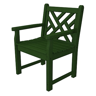 POLYWOOD Chippendale Garden Arm Chair; Green