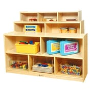 A+ Child Supply Toddler 5 Compartment Shelving Unit w/ Casters