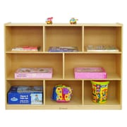 A+ Child Supply Preschool 8 Compartment Shelving Unit w/ Casters