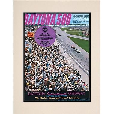 Mounted Memories NASCAR Daytona 500 Program Vintage Advertisement; 7th Annual - 1965