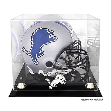 Mounted Memories NFL Classic Helmet Logo Display Case; Detroit Lions